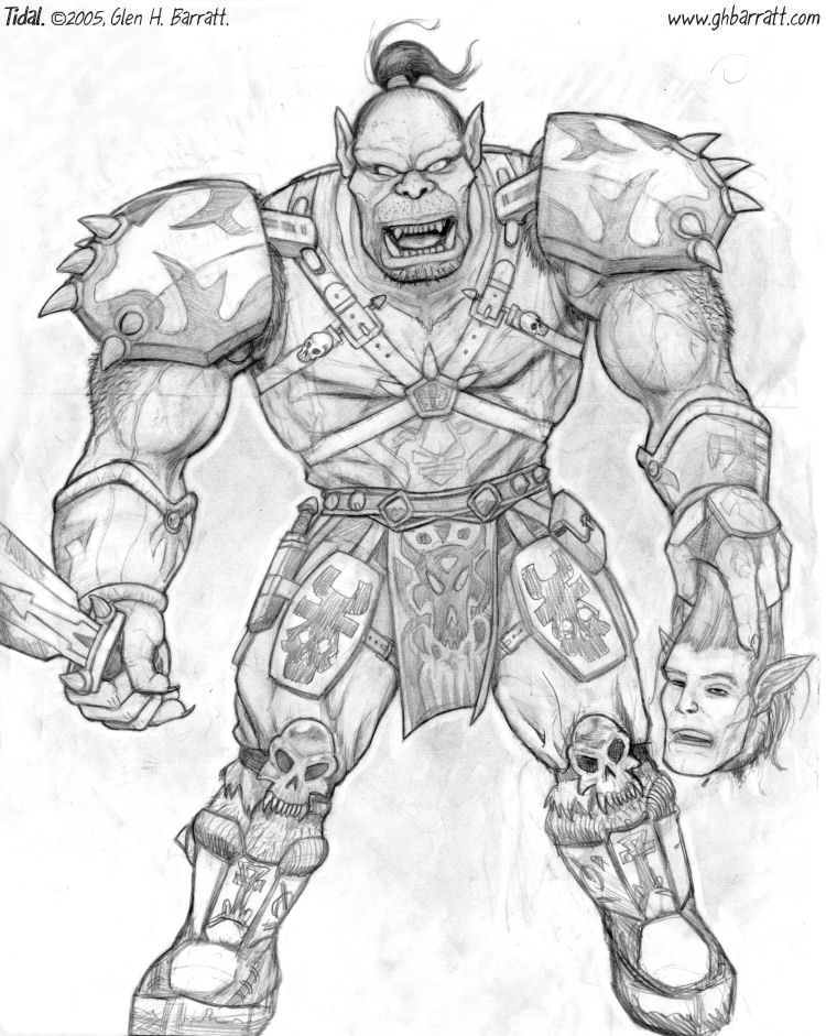 Orc coloring #7, Download drawings