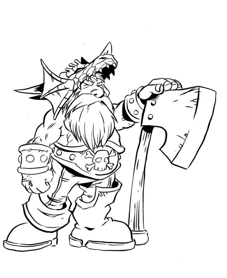 Orc coloring #5, Download drawings