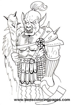 Orc coloring #17, Download drawings