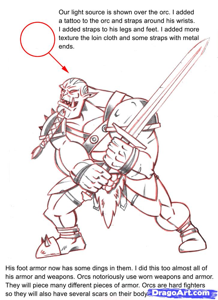 Orc coloring #12, Download drawings