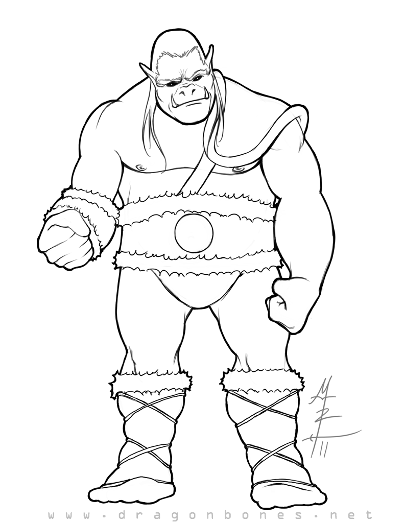 Orc coloring #13, Download drawings