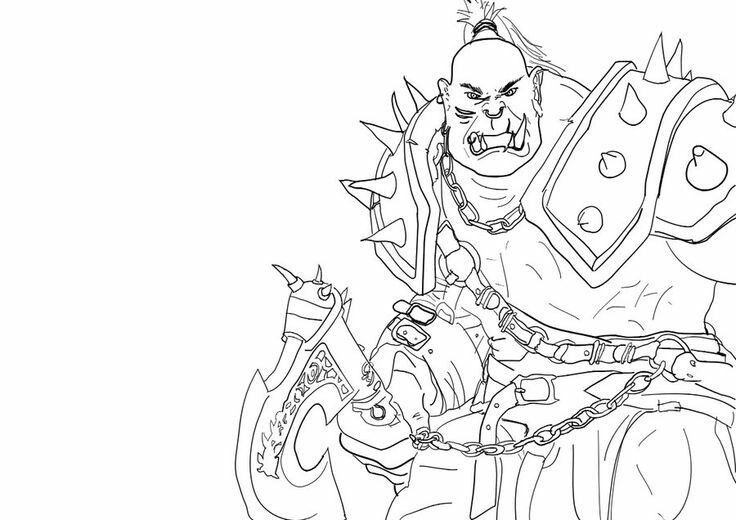 Orc coloring #15, Download drawings