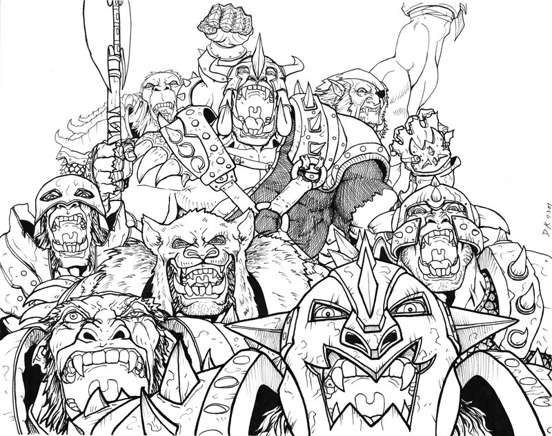 Orc coloring #3, Download drawings