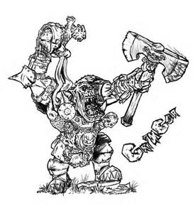 Orc coloring #2, Download drawings