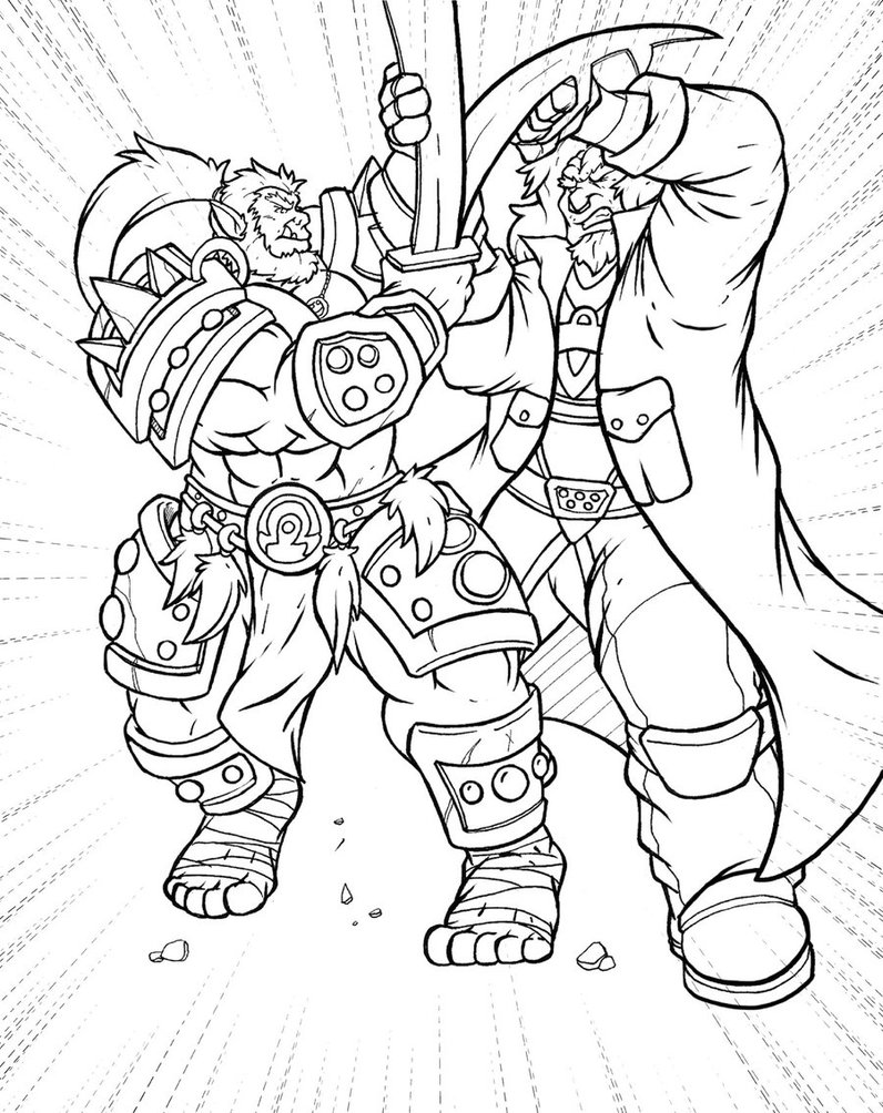 Orc coloring #11, Download drawings