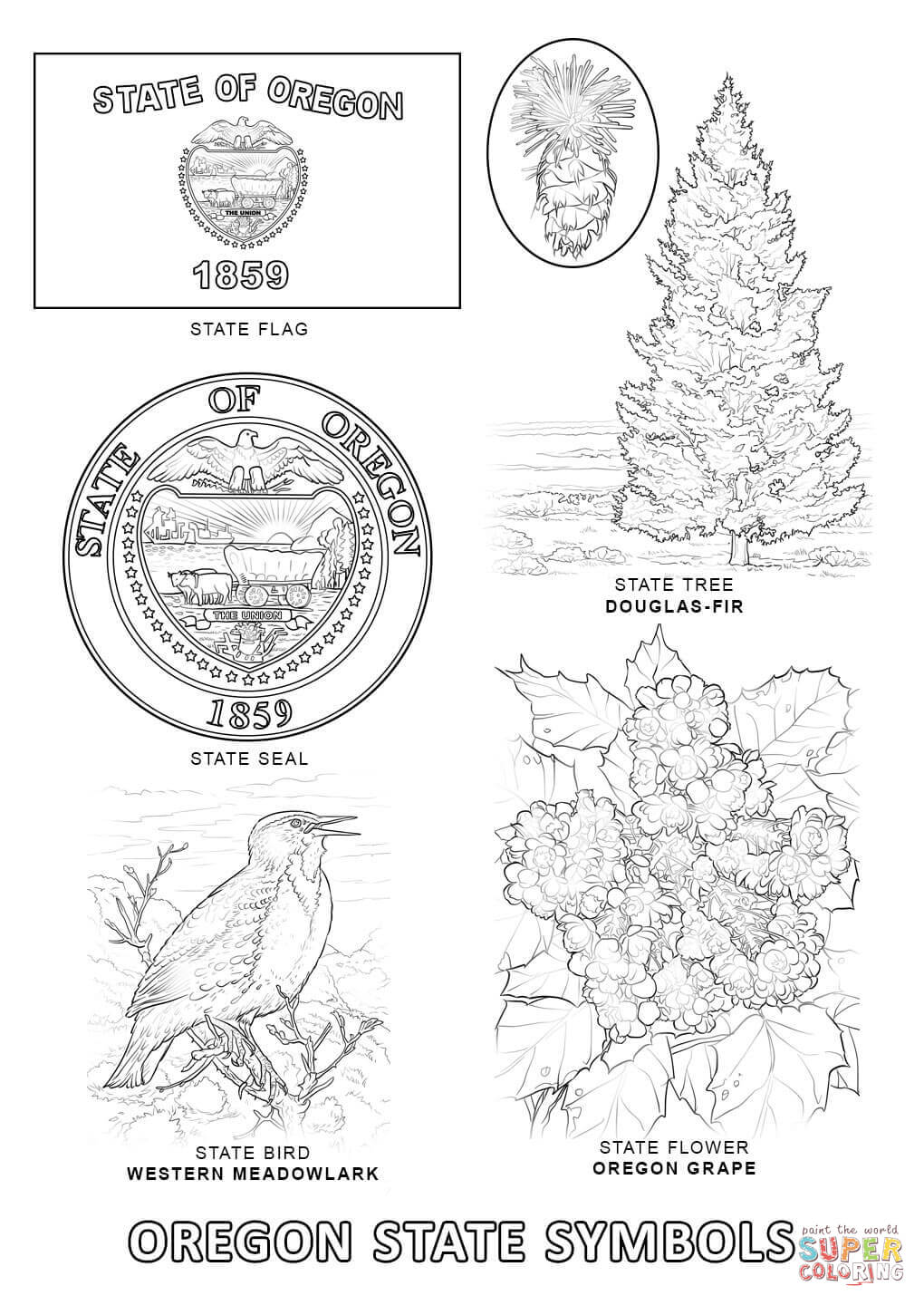 Oregon coloring download oregon coloring for Oregon flag coloring page
