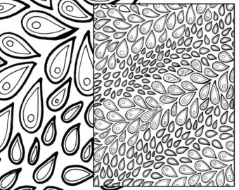 Organic Pattern coloring #4, Download drawings