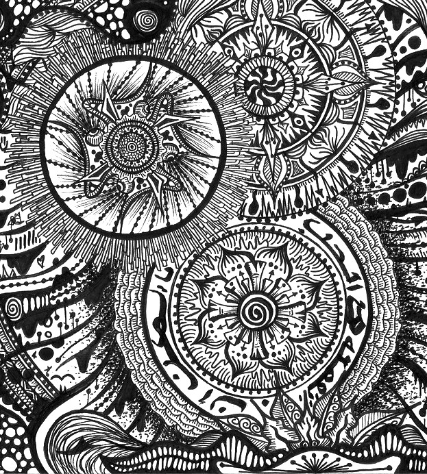 Oriental coloring #2, Download drawings