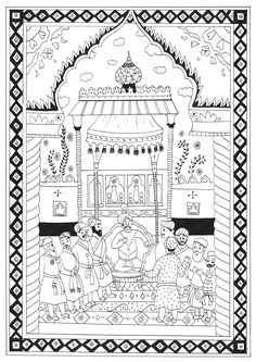 Oriental coloring #14, Download drawings