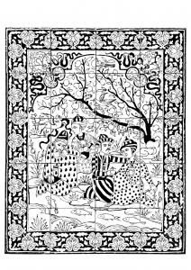 Oriental coloring #17, Download drawings