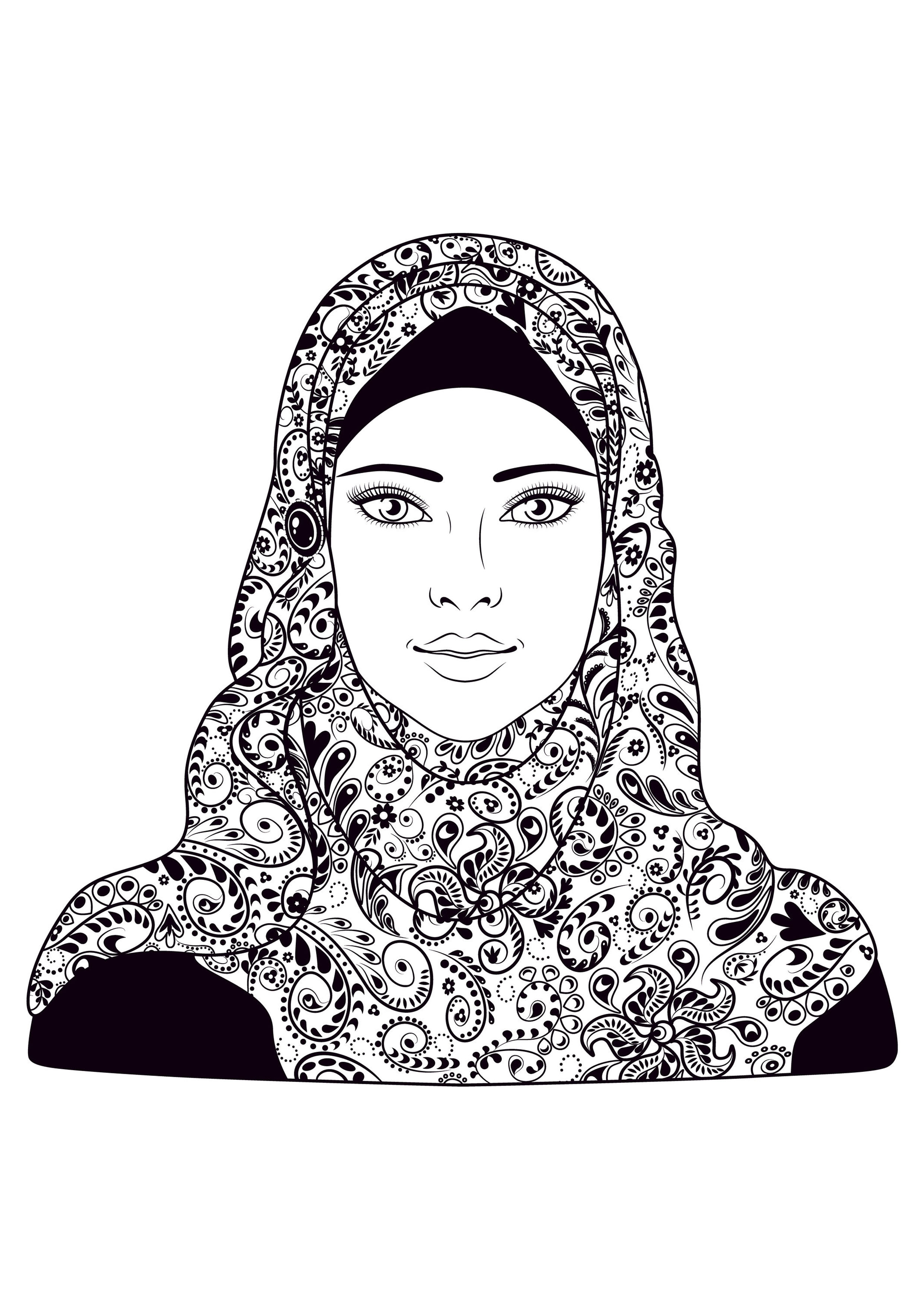 Oriental coloring #12, Download drawings