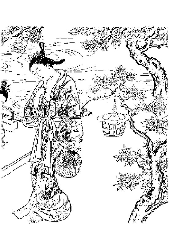 Oriental coloring #6, Download drawings