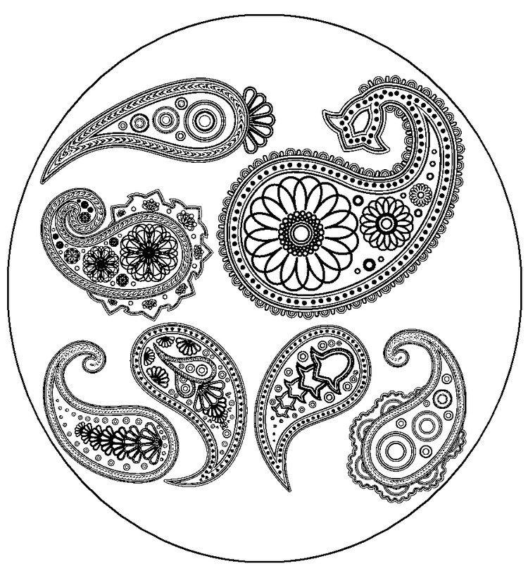 Oriental coloring #5, Download drawings