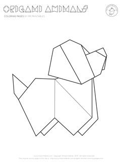 Origami coloring #20, Download drawings