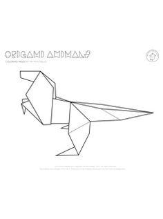 Origami coloring #14, Download drawings