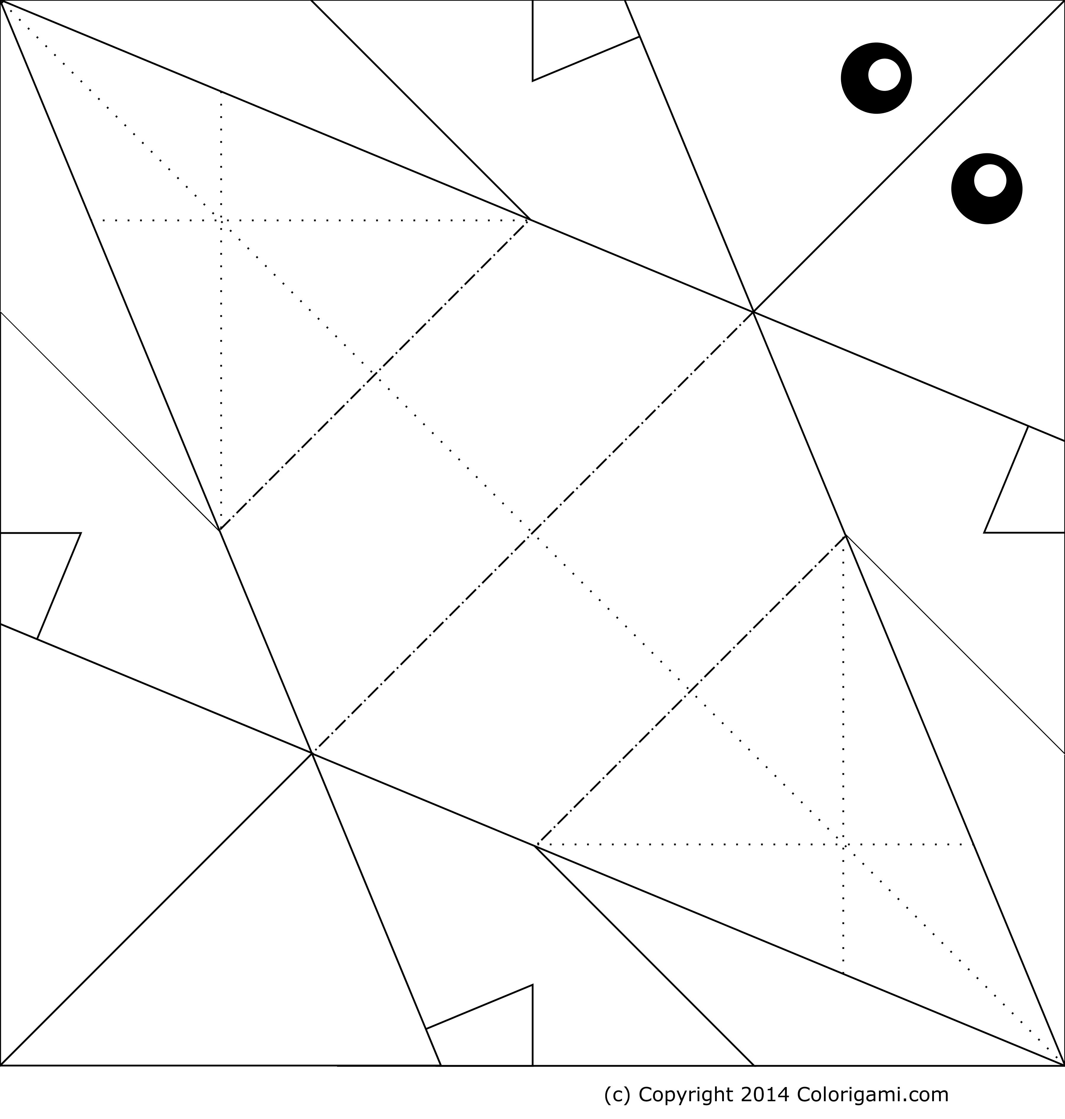 Origami coloring #1, Download drawings