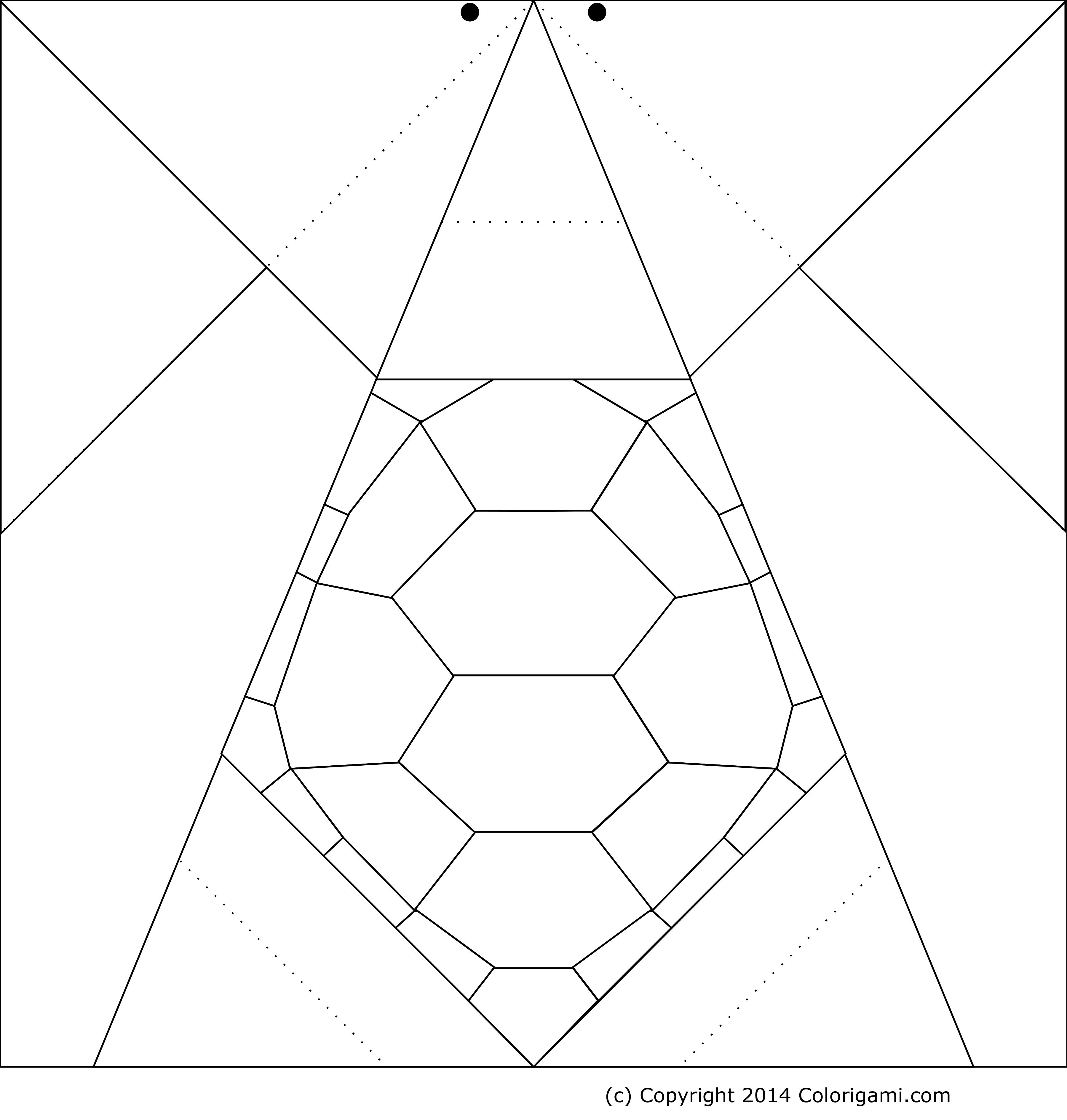 Origami coloring #2, Download drawings