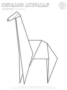Origami coloring #12, Download drawings