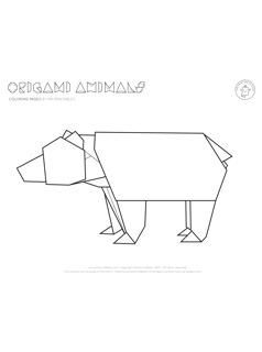 Origami coloring #11, Download drawings