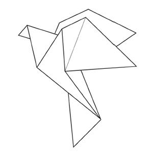 Origami coloring #7, Download drawings