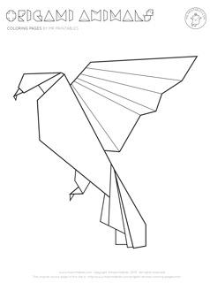 Origami coloring #19, Download drawings