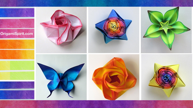 Origami coloring #4, Download drawings