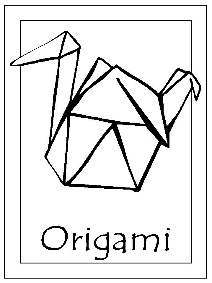 Origami coloring #18, Download drawings