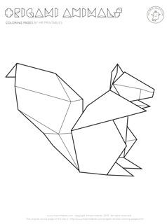 Origami coloring #17, Download drawings