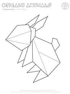 Origami coloring #15, Download drawings