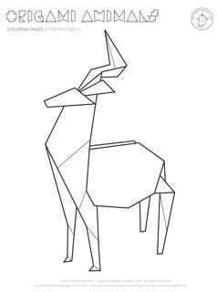 Origami coloring #16, Download drawings