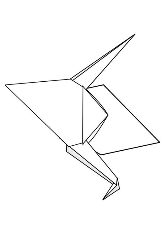Origami coloring #9, Download drawings