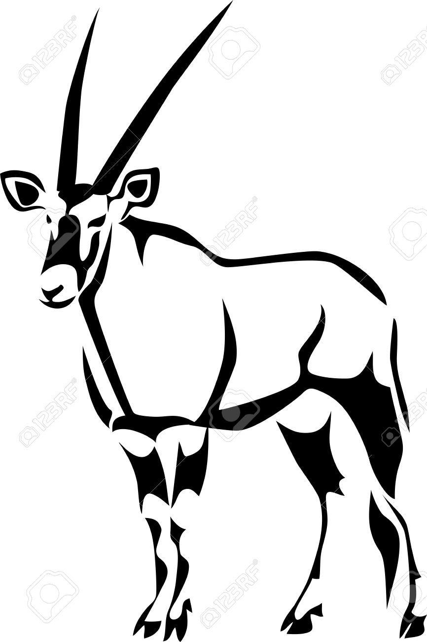 Oryx clipart #15, Download drawings