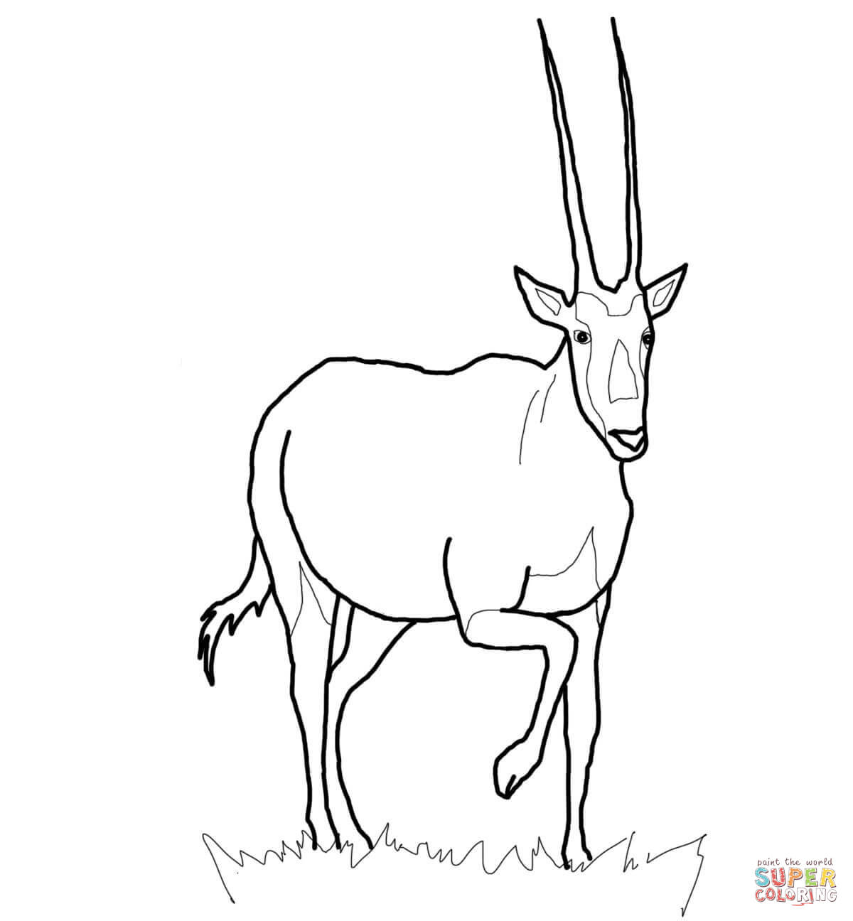 Oryx coloring #12, Download drawings