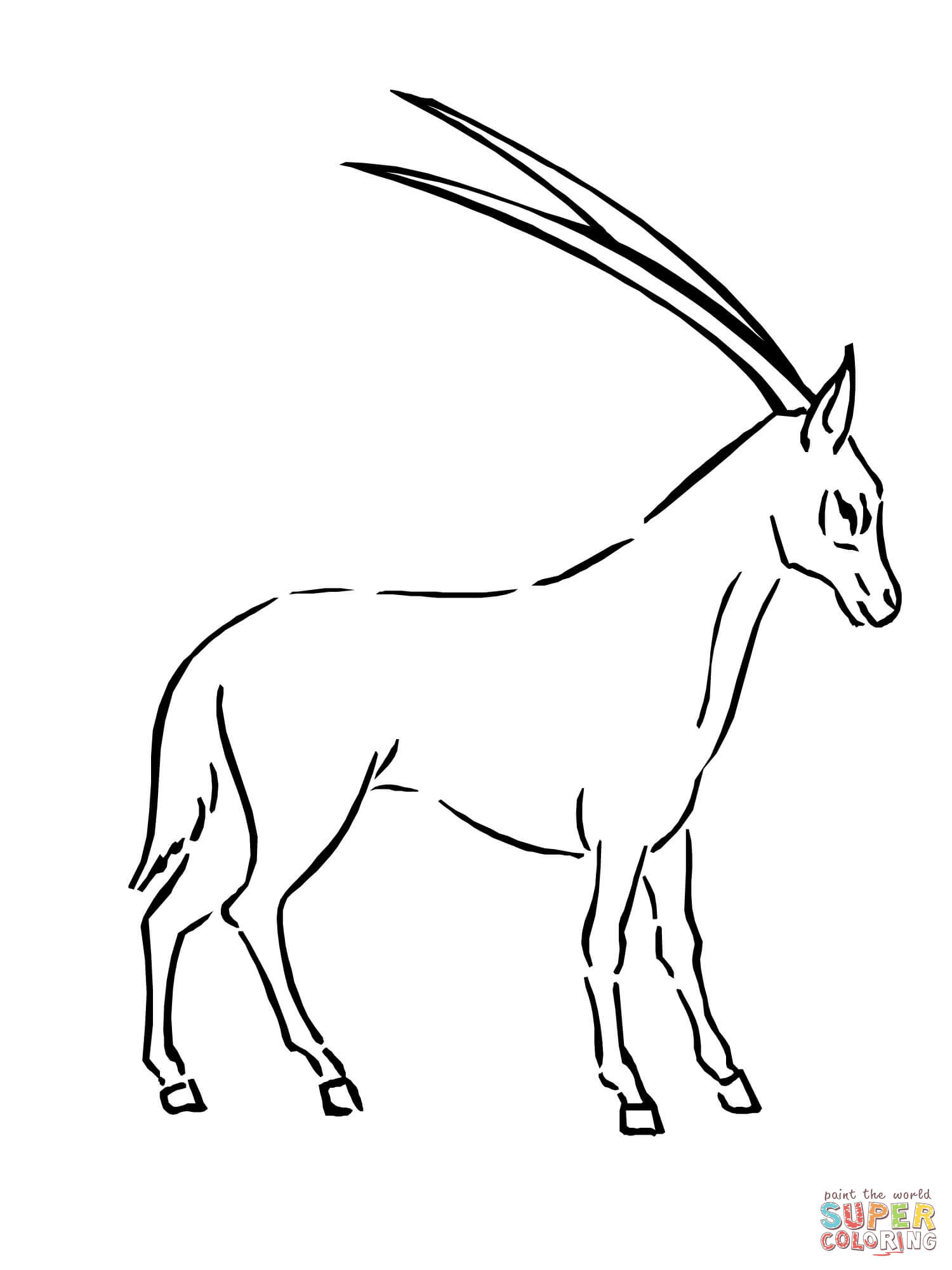 Oryx coloring #10, Download drawings