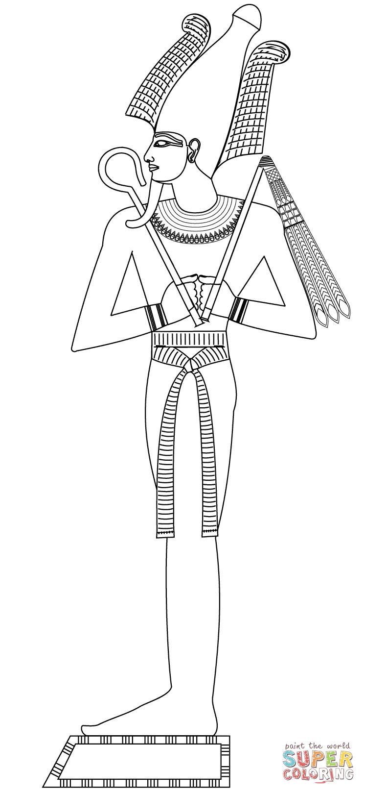 Osiris coloring #15, Download drawings