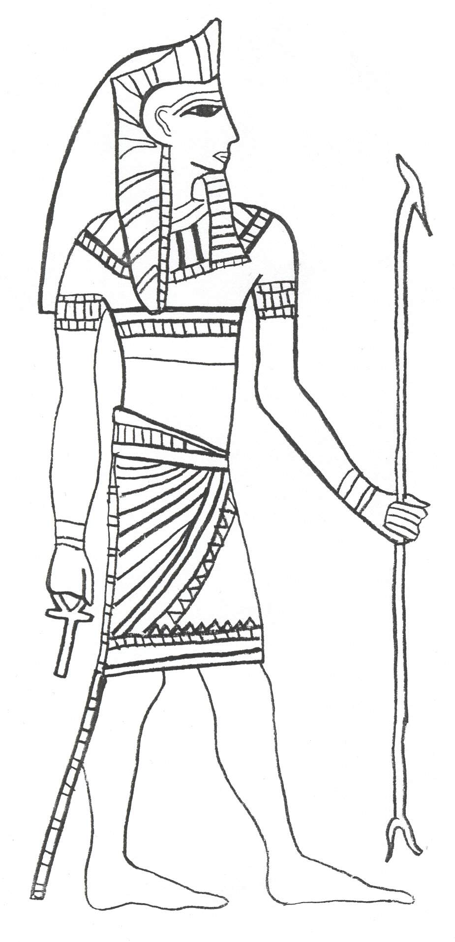 Osiris coloring download osiris coloring for Egyptian coloring page
