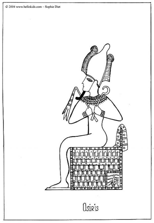 Osiris coloring #7, Download drawings
