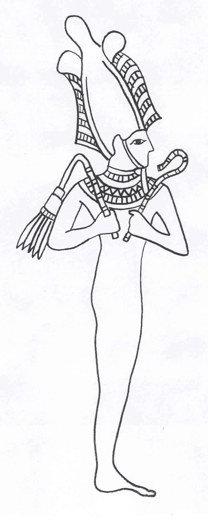 Osiris coloring #14, Download drawings
