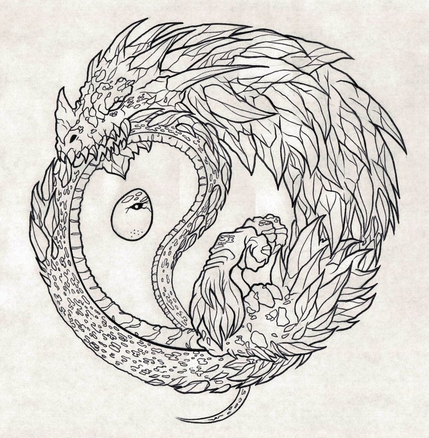 Ouroboros coloring #15, Download drawings