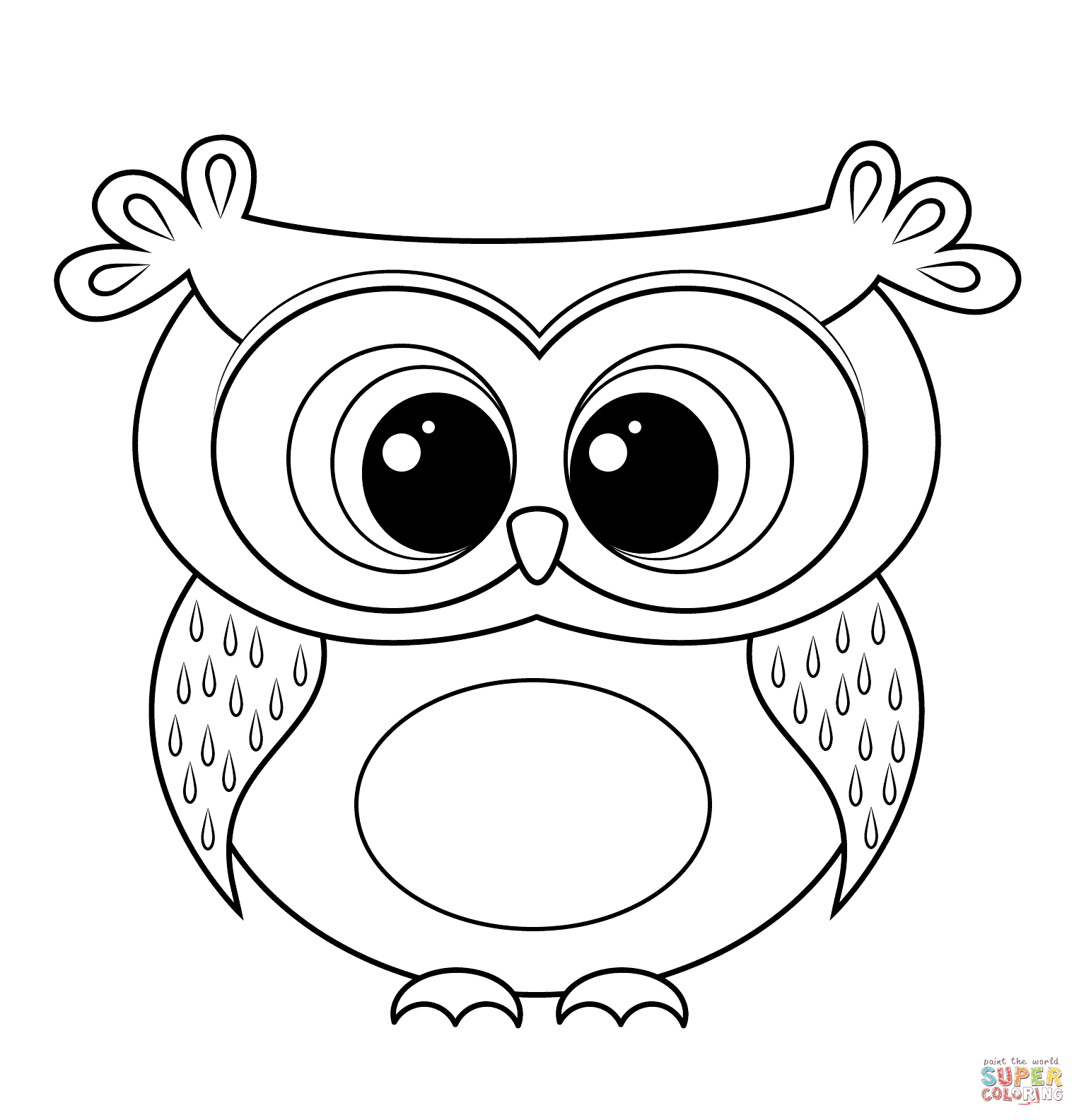 Owl coloring #15, Download drawings