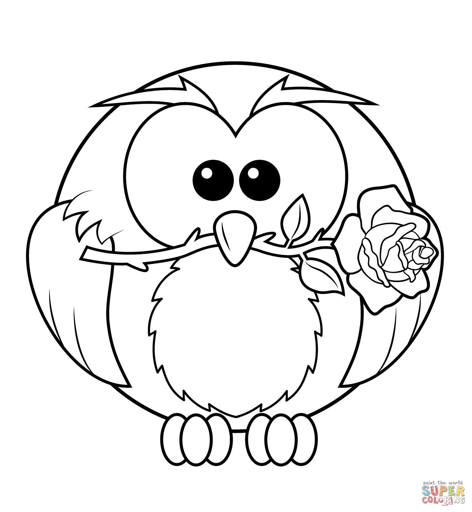 Owl coloring #9, Download drawings