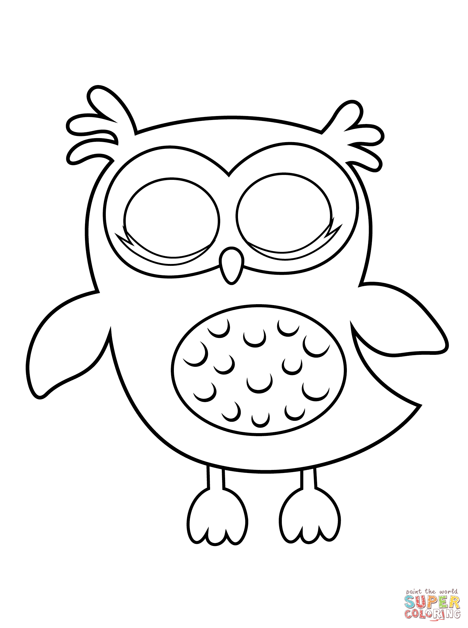 Owl coloring #6, Download drawings
