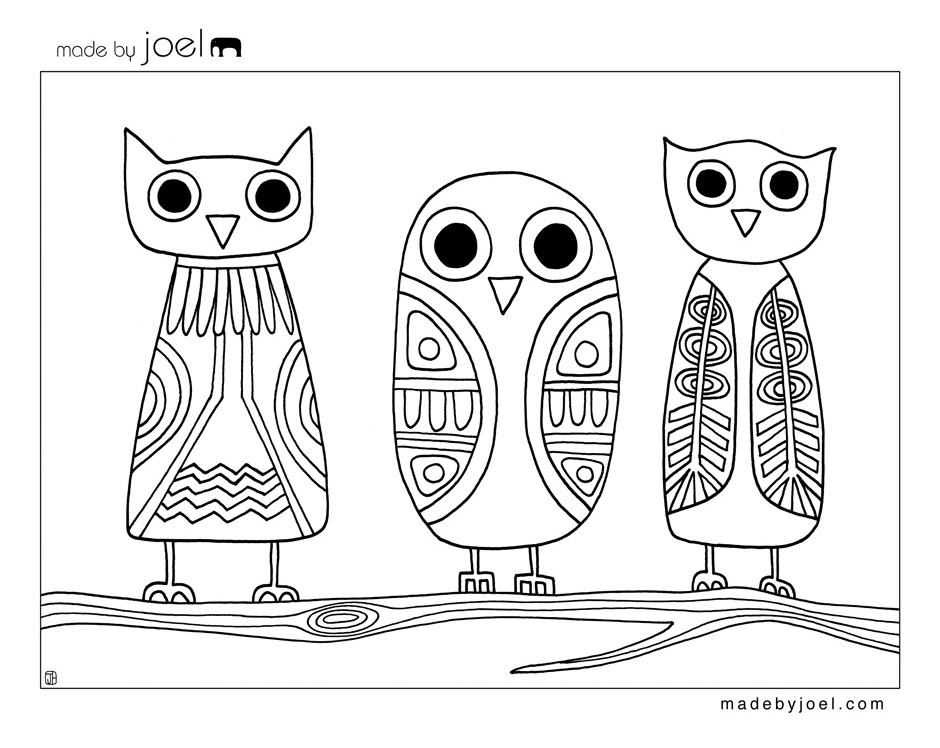 Owl coloring #7, Download drawings
