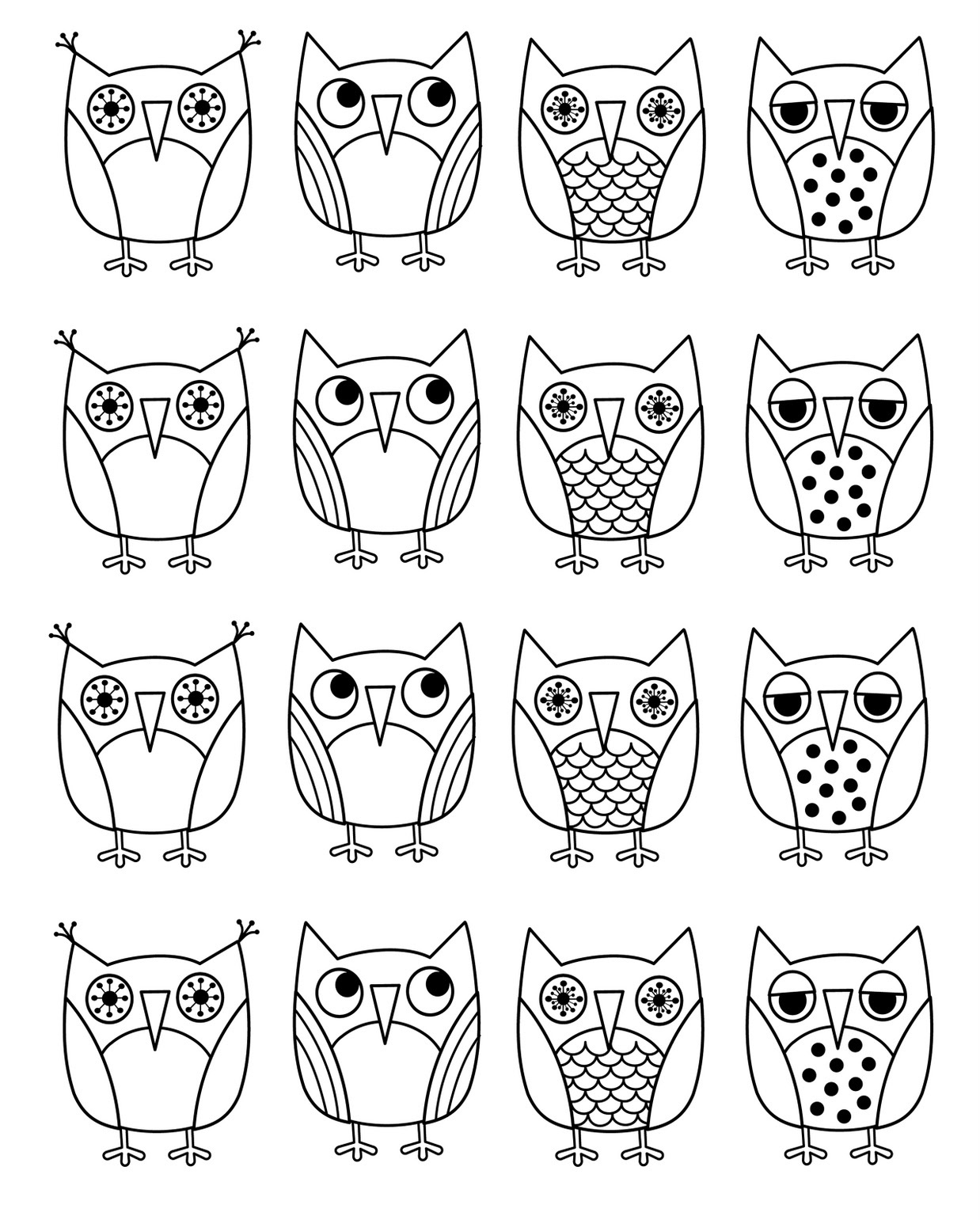 Owl coloring #12, Download drawings