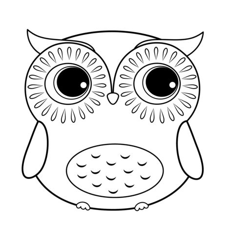 Owl coloring #20, Download drawings