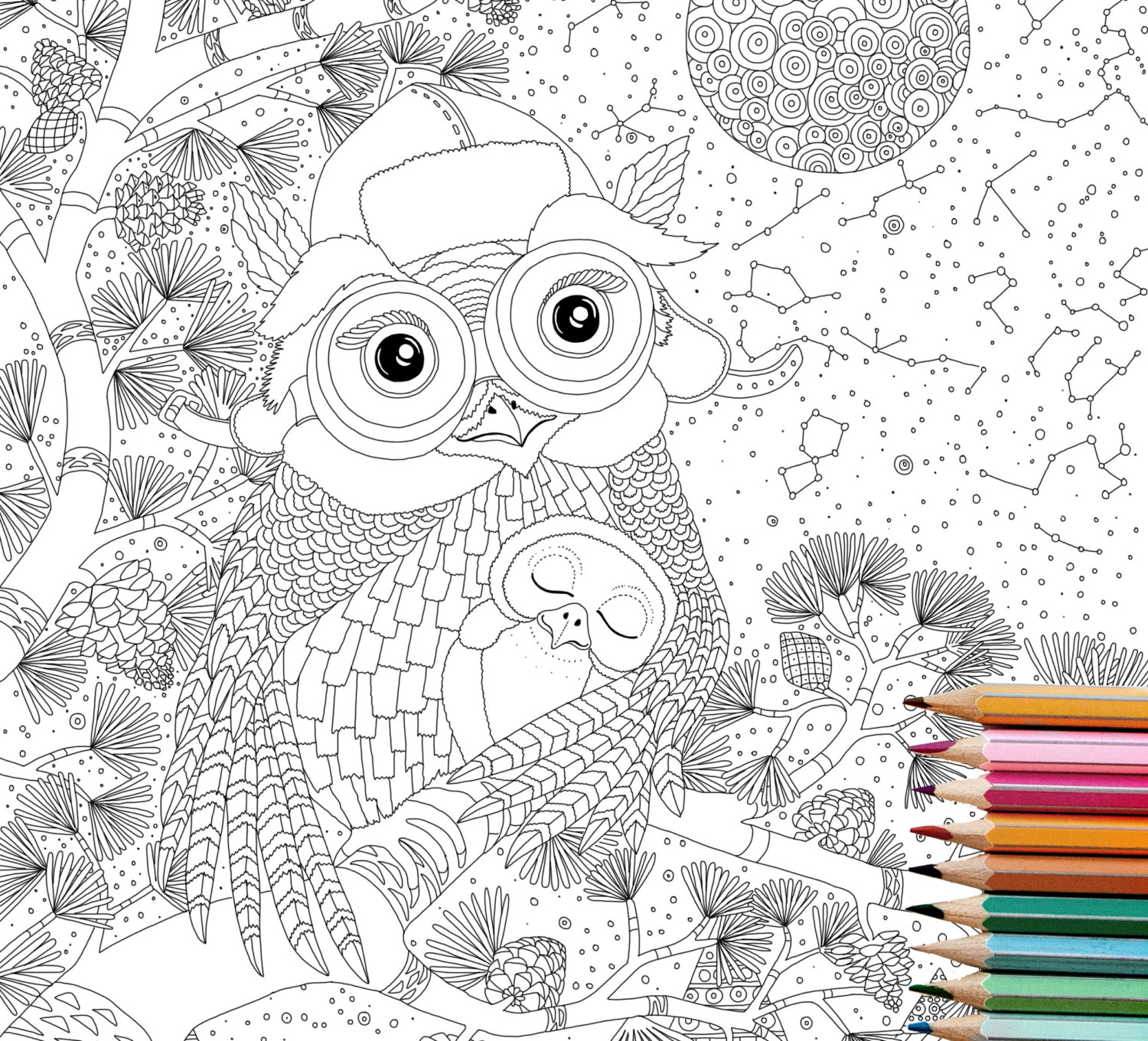 Owlet coloring #7, Download drawings
