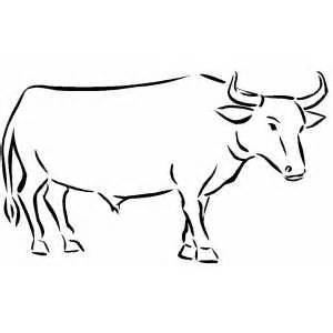 Ox coloring #3, Download drawings