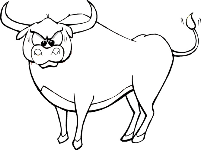 Ox coloring #14, Download drawings