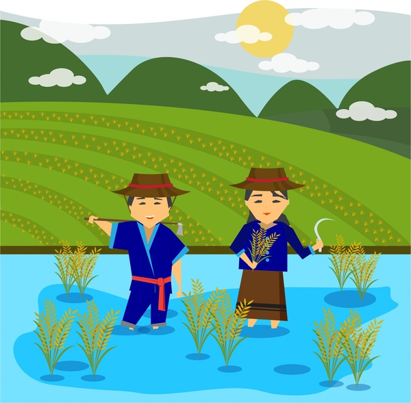 Paddy Field svg #10, Download drawings
