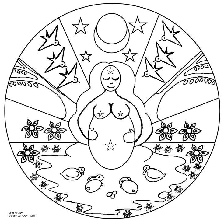 Pagan coloring #3, Download drawings